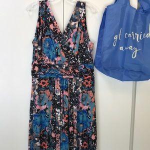 Nic + Zoe summer sleeveless dress floral XL